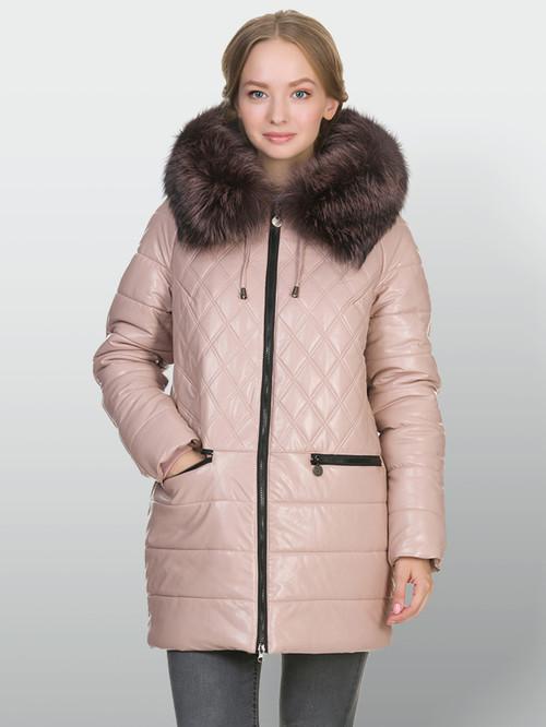 Кожаная куртка артикул 11902656/44 - фото 2