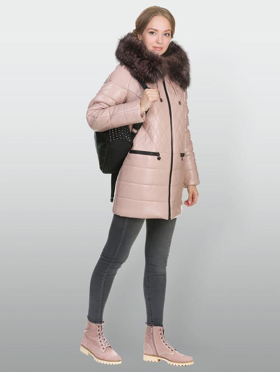 Кожаная куртка эко кожа 100% П/А, цвет розовый, арт. 11902656  - цена 10590 руб.  - магазин TOTOGROUP