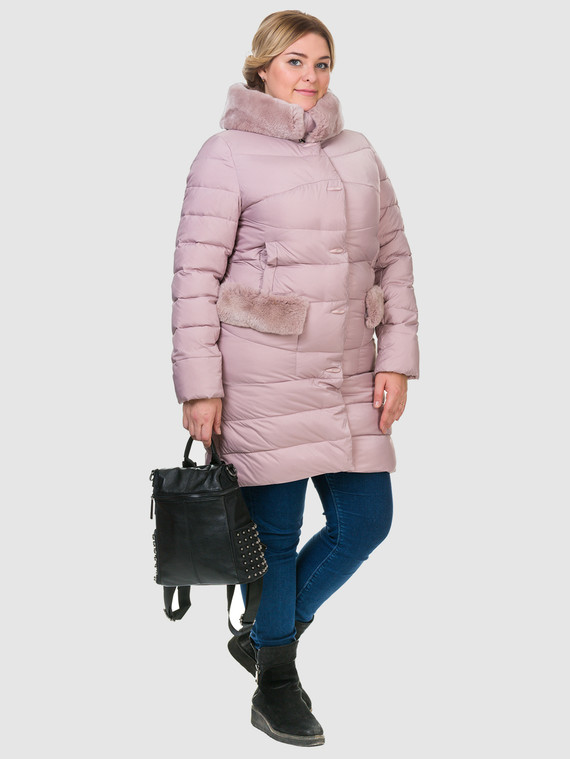 Пуховик текстиль, цвет розовый, арт. 11902824  - цена 6990 руб.  - магазин TOTOGROUP