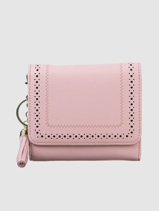 Кошелек кожа теленок, цвет розовый, арт. 11903311  - цена 1950 руб.  - магазин TOTOGROUP