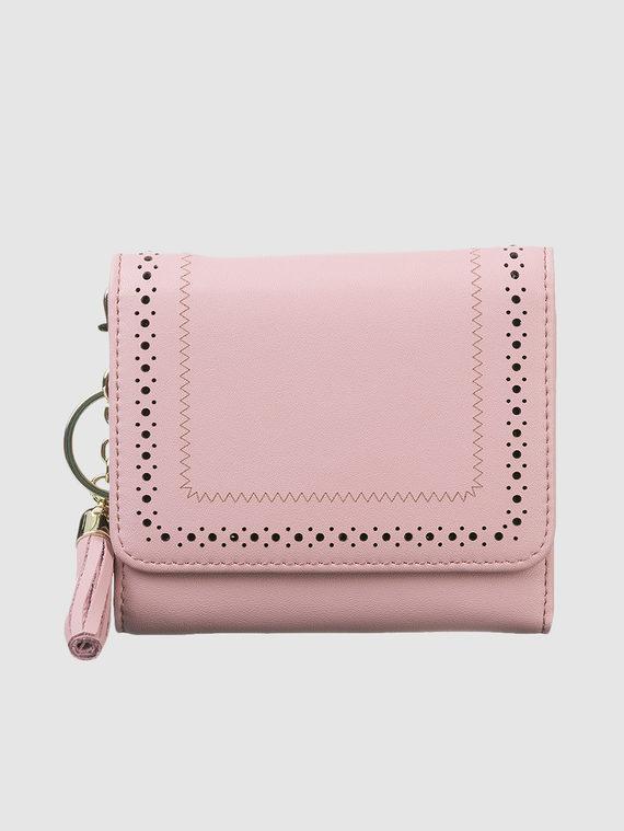 Кошелек кожа теленок, цвет розовый, арт. 11903311  - цена 1410 руб.  - магазин TOTOGROUP
