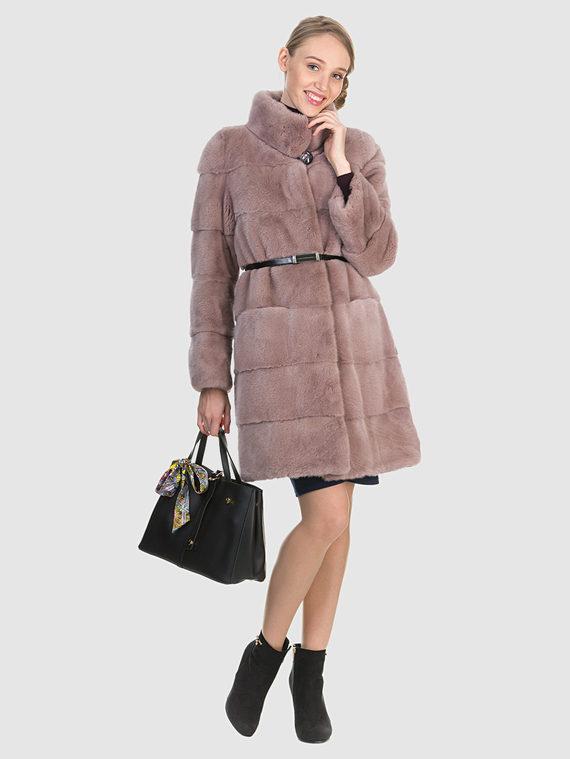 Шуба из норки мех норка, цвет розовый, арт. 11903525  - цена 94990 руб.  - магазин TOTOGROUP