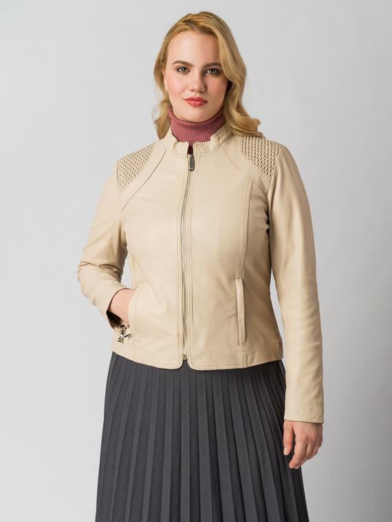 Кожаная куртка кожа , цвет светло-бежевый, арт. 12005516  - цена 9490 руб.  - магазин TOTOGROUP