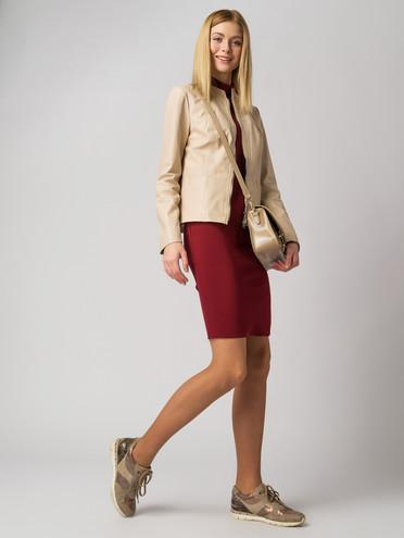 Кожаная куртка кожа , цвет светло-бежевый, арт. 12005517  - цена 11990 руб.  - магазин TOTOGROUP