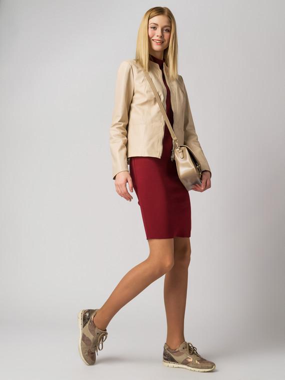 Кожаная куртка кожа , цвет светло-бежевый, арт. 12005517  - цена 7490 руб.  - магазин TOTOGROUP