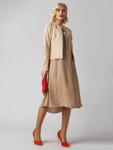 Кожаная куртка кожа , цвет светло-бежевый, арт. 12005518  - цена 8490 руб.  - магазин TOTOGROUP