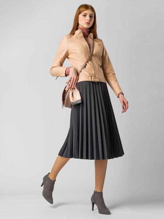 Кожаная куртка кожа , цвет светло-бежевый, арт. 12006145  - цена 6990 руб.  - магазин TOTOGROUP