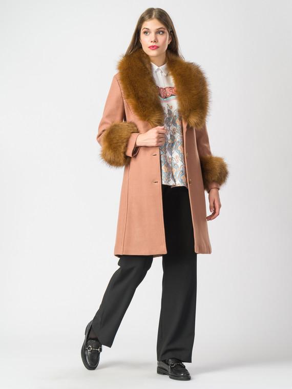 Текстильное пальто 30%шерсть, 70% п.э, цвет бежевый, арт. 12006821  - цена 4740 руб.  - магазин TOTOGROUP