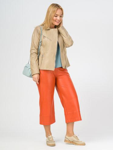 Кожаная куртка кожа , цвет светло-бежевый, арт. 12106295  - цена 8990 руб.  - магазин TOTOGROUP