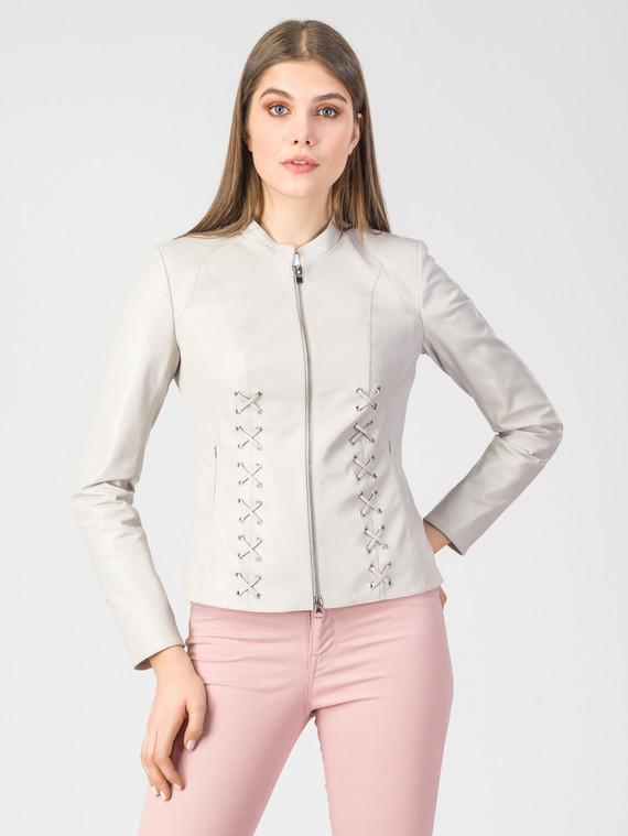 Кожаная куртка кожа , цвет светло-бежевый, арт. 12107772  - цена 11290 руб.  - магазин TOTOGROUP