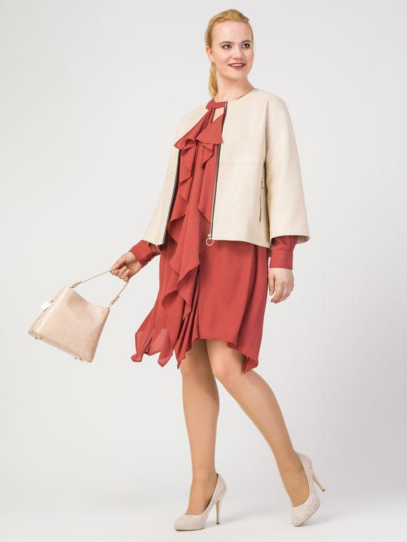 Кожаная куртка эко-кожа 100% П/А, цвет светло-бежевый, арт. 12108145  - цена 5890 руб.  - магазин TOTOGROUP