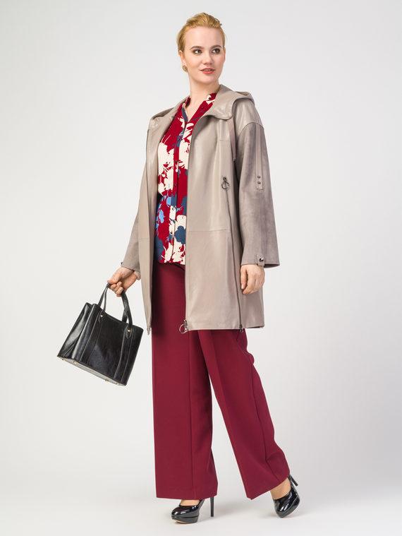 Кожаное пальто эко-кожа 100% П/А, цвет светло-бежевый, арт. 12108201  - цена 5590 руб.  - магазин TOTOGROUP