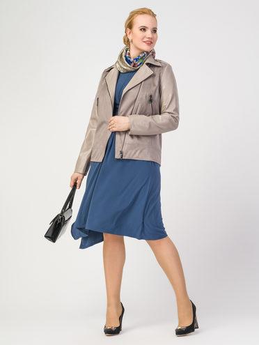 Кожаная куртка эко-замша 100% П/А, цвет бежевый, арт. 12108204  - цена 5290 руб.  - магазин TOTOGROUP