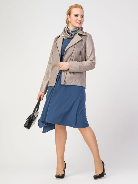 Кожаная куртка эко-замша 100% П/А, цвет бежевый, арт. 12108204  - цена 5890 руб.  - магазин TOTOGROUP