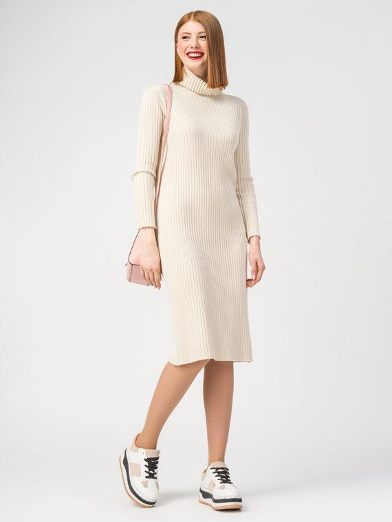 Платье 37% хлопок, 37% полиэстер, 26% вискоза, цвет светло-бежевый, арт. 12108421  - цена 2690 руб.  - магазин TOTOGROUP