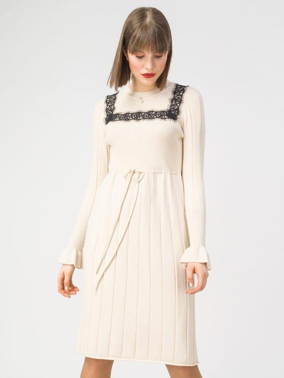 Платье 37% хлопок, 37% полиэстер, 26% вискоза, цвет светло-бежевый, арт. 12108422  - цена 2420 руб.  - магазин TOTOGROUP