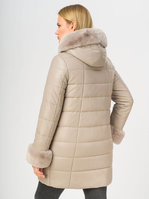 Кожаное пальто артикул 12108575/48 - фото 3
