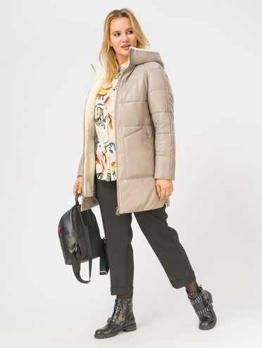 Кожаная куртка эко-кожа 100% П/А, цвет светло-бежевый, арт. 12109051  - цена 11990 руб.  - магазин TOTOGROUP