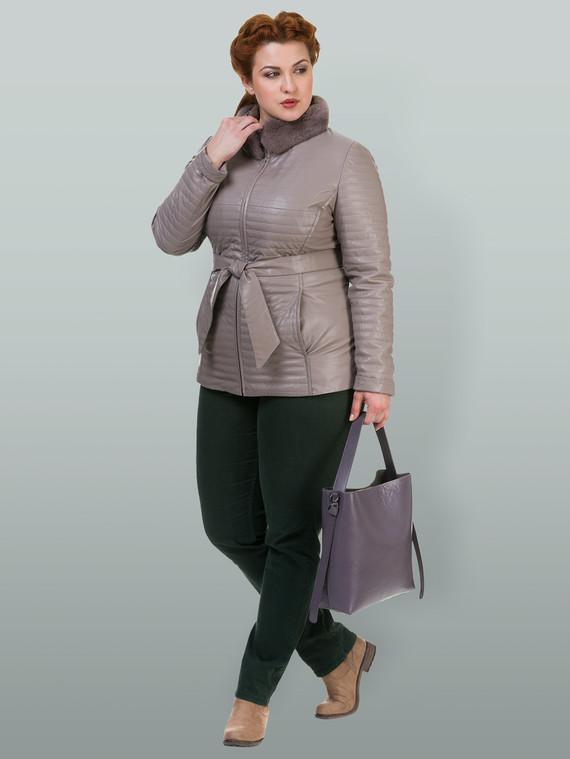 Кожаная куртка эко кожа 100% П/А, цвет светло-бежевый, арт. 12700135  - цена 4740 руб.  - магазин TOTOGROUP