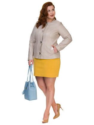Кожаная куртка кожа овца, цвет светло-бежевый, арт. 12700140  - цена 13390 руб.  - магазин TOTOGROUP