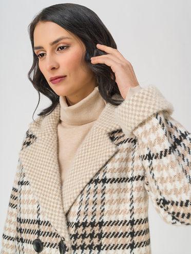Текстильное пальто 35% шерсть, 65% полиэстер, цвет светло-бежевый, арт. 12711420  - цена 6990 руб.  - магазин TOTOGROUP