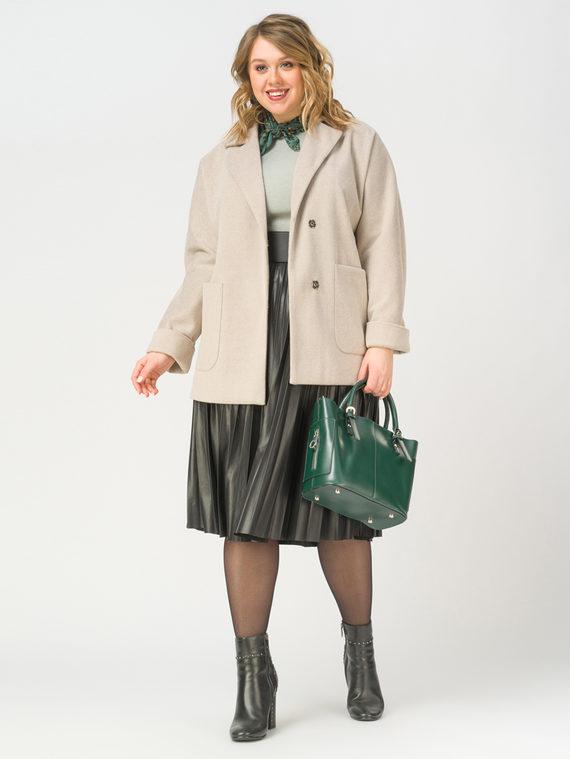 Текстильная куртка 35% шерсть, 65% полиэстер, цвет светло-бежевый, арт. 12810088  - цена 4990 руб.  - магазин TOTOGROUP
