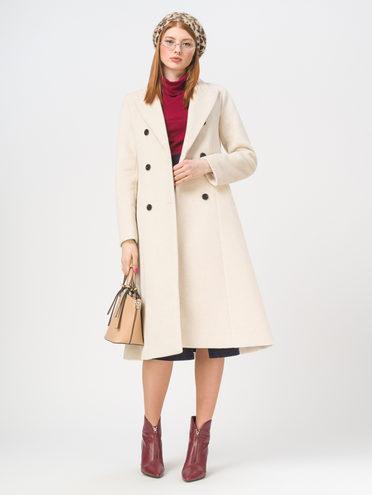 Текстильное пальто 35% шерсть, 65% полиэстер, цвет светло-бежевый, арт. 12810096  - цена 4740 руб.  - магазин TOTOGROUP