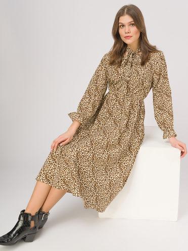 Платье 65% полиэстер, 35% хлопок, цвет светло-бежевый, арт. 12810336  - цена 1190 руб.  - магазин TOTOGROUP