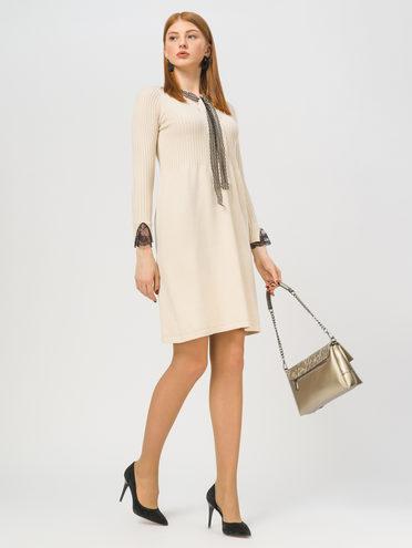 Платье 65% вискоза,35% нейлон, цвет светло-бежевый, арт. 12810351  - цена 1660 руб.  - магазин TOTOGROUP