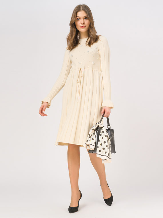 Платье 65%вискоза,35%нейлон, цвет светло-бежевый, арт. 12810352  - цена 1570 руб.  - магазин TOTOGROUP