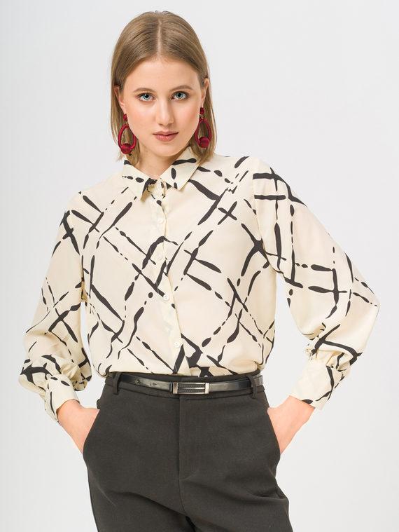 Блуза 100% полиэстер, цвет светло-бежевый, арт. 12810447  - цена 1410 руб.  - магазин TOTOGROUP