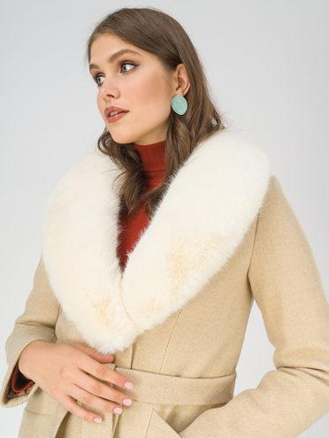 Текстильное пальто 70% полиэстер, 20% шесть, 10% вискоза, цвет светло-бежевый, арт. 12810871  - цена 6990 руб.  - магазин TOTOGROUP