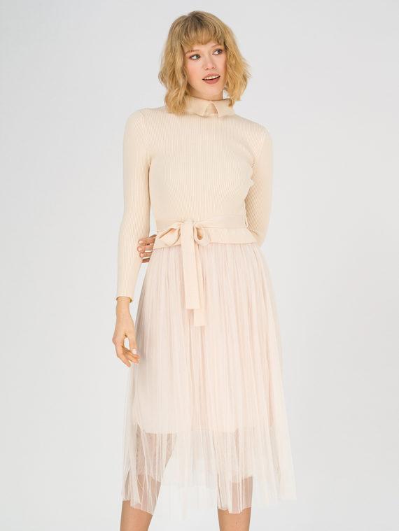 Платье 50% вискоза, 28% полиэстер, 22% нейлон, цвет светло-бежевый, арт. 12811149  - цена 3190 руб.  - магазин TOTOGROUP