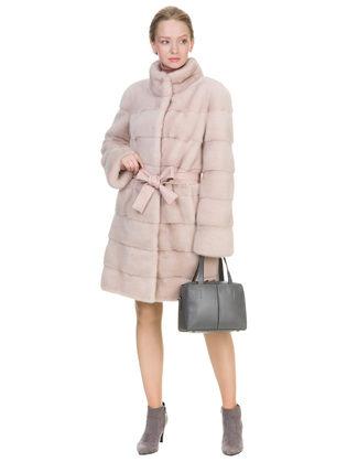 Шуба из норки мех норка крашеная, цвет розовый, арт. 12903457  - цена 94990 руб.  - магазин TOTOGROUP