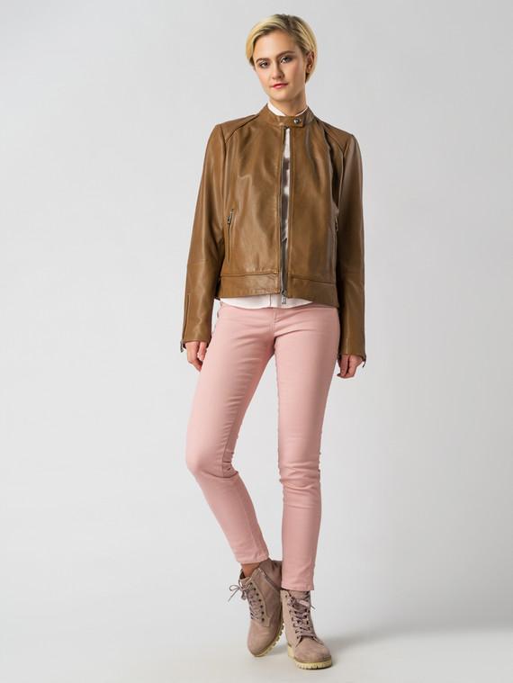 Кожаная куртка кожа , цвет светло-коричневый, арт. 13005494  - цена 7490 руб.  - магазин TOTOGROUP