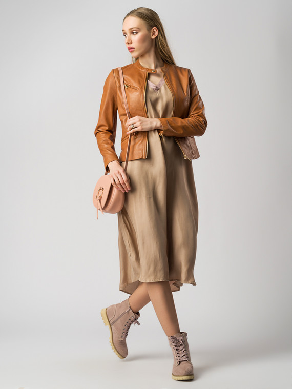 Кожаная куртка кожа , цвет светло-коричневый, арт. 13005501  - цена 7490 руб.  - магазин TOTOGROUP