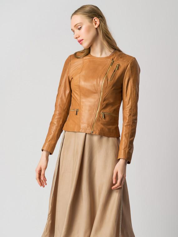 Кожаная куртка кожа , цвет светло-коричневый, арт. 13005502  - цена 7490 руб.  - магазин TOTOGROUP