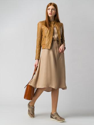 Кожаная куртка кожа , цвет светло-коричневый, арт. 13005514  - цена 6990 руб.