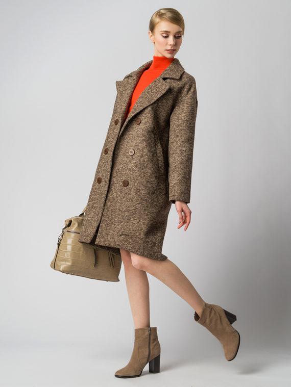 Текстильное пальто 30%шерсть, 70% п.э, цвет светло-коричневый, арт. 13005823  - цена 4260 руб.  - магазин TOTOGROUP