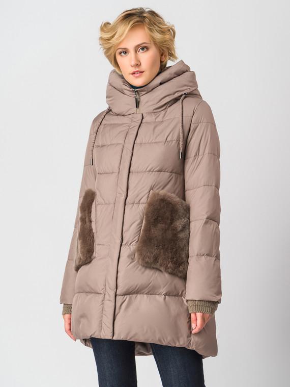 Пуховик текстиль, цвет светло-коричневый, арт. 13006203  - цена 7490 руб.  - магазин TOTOGROUP