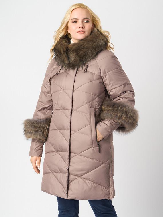 Пуховик текстиль, цвет светло-коричневый, арт. 13006221  - цена 8490 руб.  - магазин TOTOGROUP