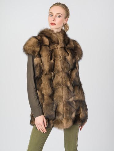 Меховой жилет мех песец, цвет светло-коричневый, арт. 13006672  - цена 14990 руб.  - магазин TOTOGROUP