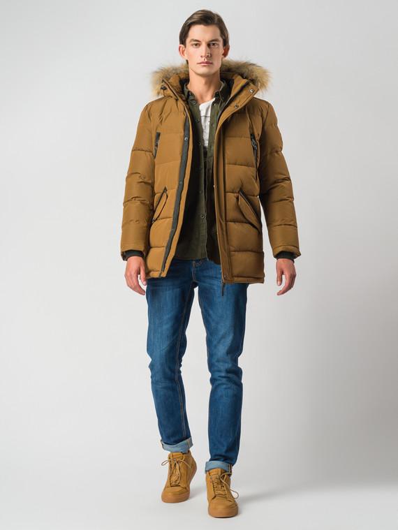 Пуховик текстиль, цвет светло-коричневый, арт. 13006736  - цена 9490 руб.  - магазин TOTOGROUP