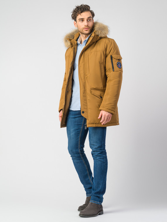 Пуховик текстиль, цвет светло-коричневый, арт. 13006744  - цена 10590 руб.  - магазин TOTOGROUP