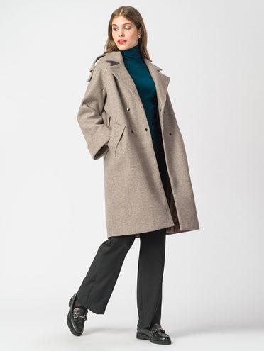 Текстильное пальто 30%шерсть, 70% п.э, цвет светло-коричневый, арт. 13006817  - цена 5590 руб.  - магазин TOTOGROUP