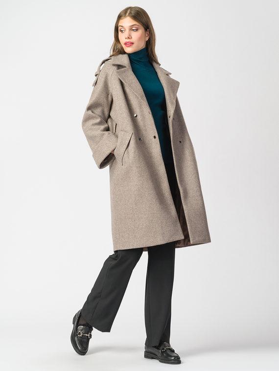 Текстильное пальто 30%шерсть, 70% п.э, цвет светло-коричневый, арт. 13006817  - цена 6990 руб.  - магазин TOTOGROUP