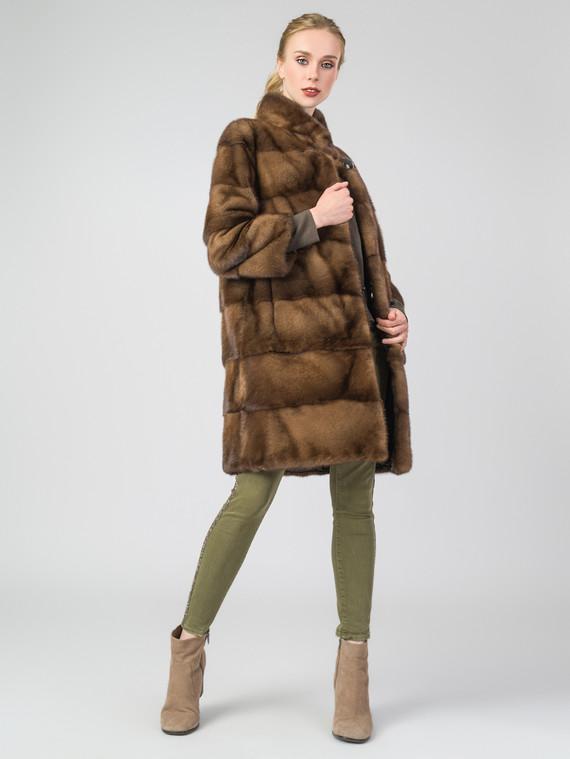 Шуба из норки мех норка, цвет светло-коричневый, арт. 13006855  - цена 56490 руб.  - магазин TOTOGROUP