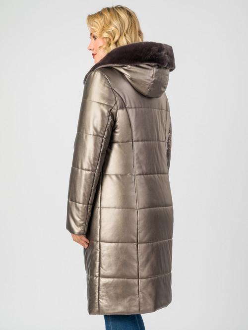 Кожаное пальто артикул 13006978/48 - фото 3