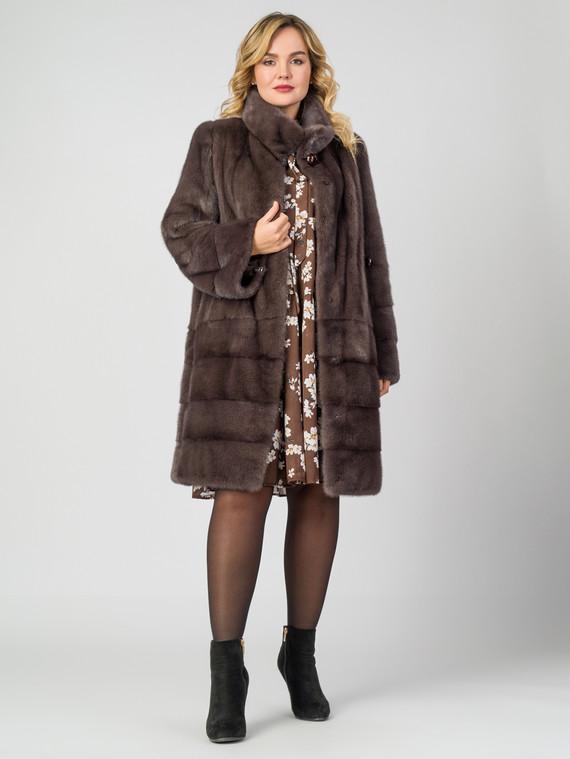 Шуба из норки мех норка, цвет светло-коричневый, арт. 13007019  - цена 105990 руб.  - магазин TOTOGROUP