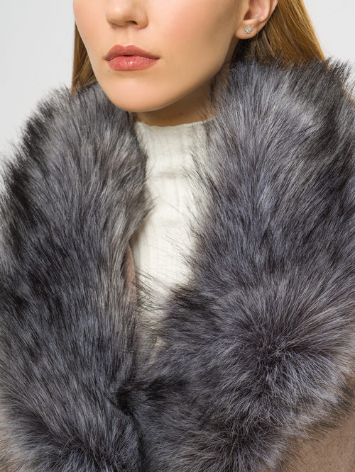 Текстильное пальто артикул 13109097/42 - фото 4